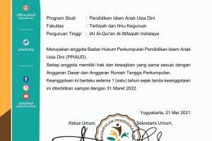 Tanda Keanggotaan PPIAUD 2021-63-IAI Al-Qur'an Al-Ittifaqiah Indralaya-1